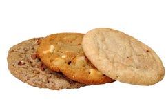 Tre biscotti Fotografie Stock