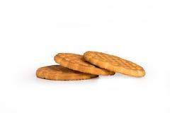 Tre biscotti Fotografia Stock