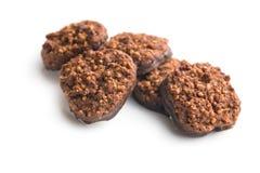 Tre biscotti del cioccolato Immagini Stock
