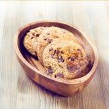 Tre biscotti del cioccolato Immagine Stock