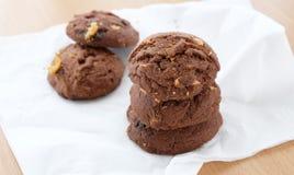 Tre biscotti del cioccolato Immagine Stock Libera da Diritti