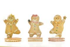 Tre biscotti del pan di zenzero Fotografia Stock