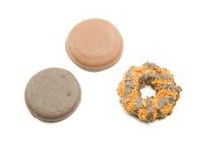 Tre biscotti squisiti immagine stock