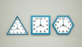 Tre blåa klockor Royaltyfria Foton