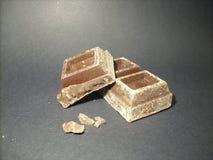 Tre blocchi di cioccolato Immagine Stock