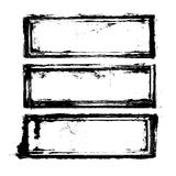 Tre blocchi per grafici Immagine Stock