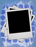Tre blocchi per grafici in bianco della foto Fotografia Stock