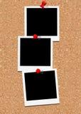 Tre blocchi per grafici del polaroid Fotografia Stock