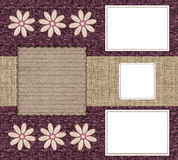 Tre blocchi per grafici per le foto Immagine Stock