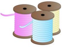 Tre bobine del filetto Immagini Stock Libere da Diritti