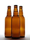 Tre bottiglie da birra Fotografia Stock