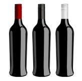 Tre bottiglie del vettore del vino illustrazione vettoriale
