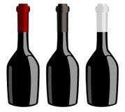 Tre bottiglie del vettore del vino royalty illustrazione gratis