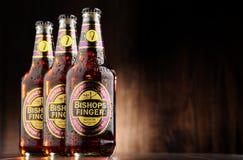 Tre bottiglie della birra del dito del vescovo Immagini Stock Libere da Diritti