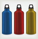 Tre bottiglie di acqua Fotografia Stock Libera da Diritti