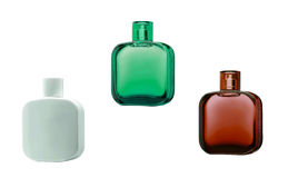 Tre bottiglie di profumo con le riflessioni Immagine Stock Libera da Diritti