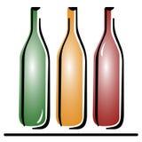 Tre bottiglie di vettore Immagine Stock Libera da Diritti