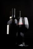 Tre bottiglie di vino Fotografia Stock Libera da Diritti
