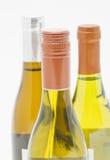 Tre bottiglie di vino bianco Immagini Stock Libere da Diritti