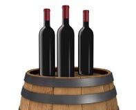 Bottiglie di vino illustrazione vettoriale
