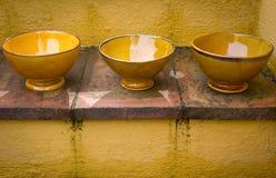 Tre bowles royaltyfria bilder