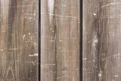 Tre bruna träbräden med wood korn Royaltyfria Foton