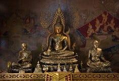 Tre buddha dorato fotografia stock libera da diritti
