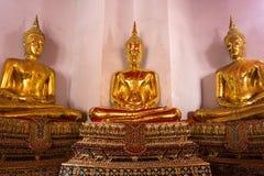 Tre buddha statyer Royaltyfria Foton