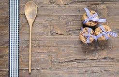 Tre buntar av läckra choklade kakor Arkivbilder