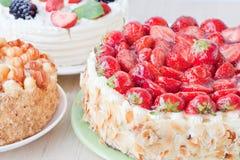 Tre cakes Royaltyfria Foton