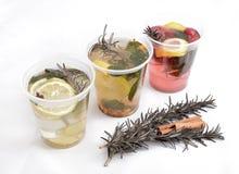 Tre caldi e tè sano della frutta per riscaldare inverno Fotografia Stock Libera da Diritti
