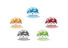 Tre Camere tre montagne Fotografie Stock Libere da Diritti
