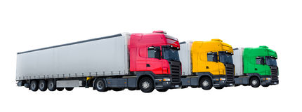 Tre camion Immagini Stock