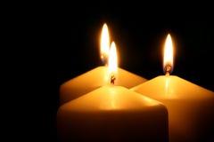 Tre candele Immagini Stock