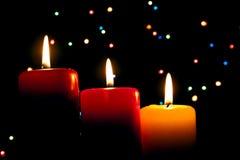 Tre candele Immagini Stock Libere da Diritti