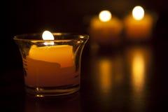 Tre candele Fotografia Stock