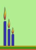 Tre candele di Digitahi Fotografia Stock
