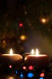 Tre candele di natale Fotografia Stock Libera da Diritti