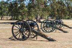 Tre cannoni dell'Esercito dell'Unione Fotografia Stock Libera da Diritti