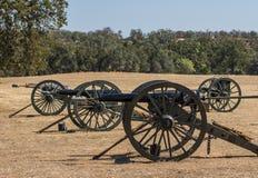 Tre cannoni dell'Esercito dell'Unione Fotografie Stock