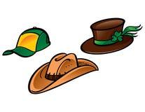 Tre cappelli Immagine Stock