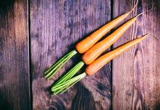 Tre carote fresche Fotografia Stock Libera da Diritti