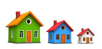 Tre case illustrazione vettoriale