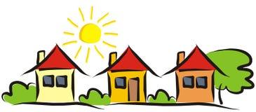 Tre case royalty illustrazione gratis