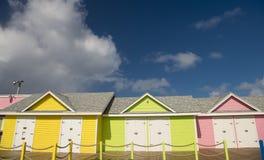 Tre case di legno Fotografia Stock Libera da Diritti