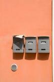 Tre cassette postali Fotografia Stock Libera da Diritti