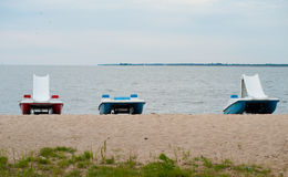 Tre catamarani Immagini Stock