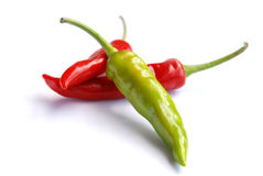 Tre chilis Fotografia Stock Libera da Diritti