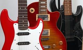 Tre chitarre Fotografie Stock Libere da Diritti