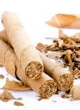 Tre cigarrer Arkivbild